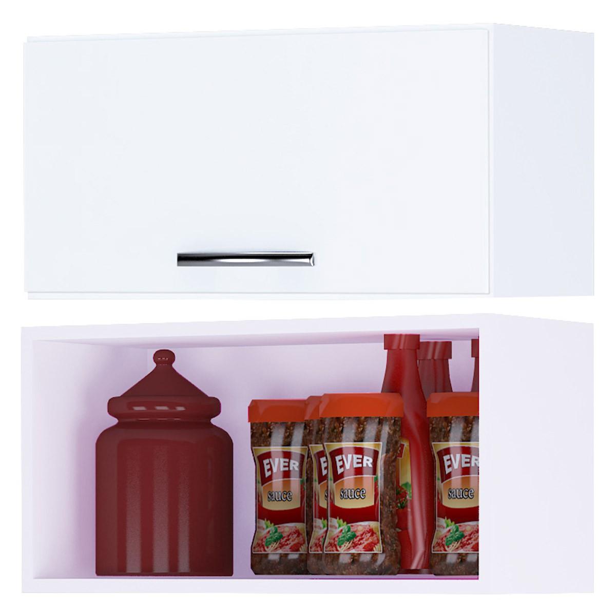 Armário Aéreo Geladeira Para Cozinha 60 cm Branco