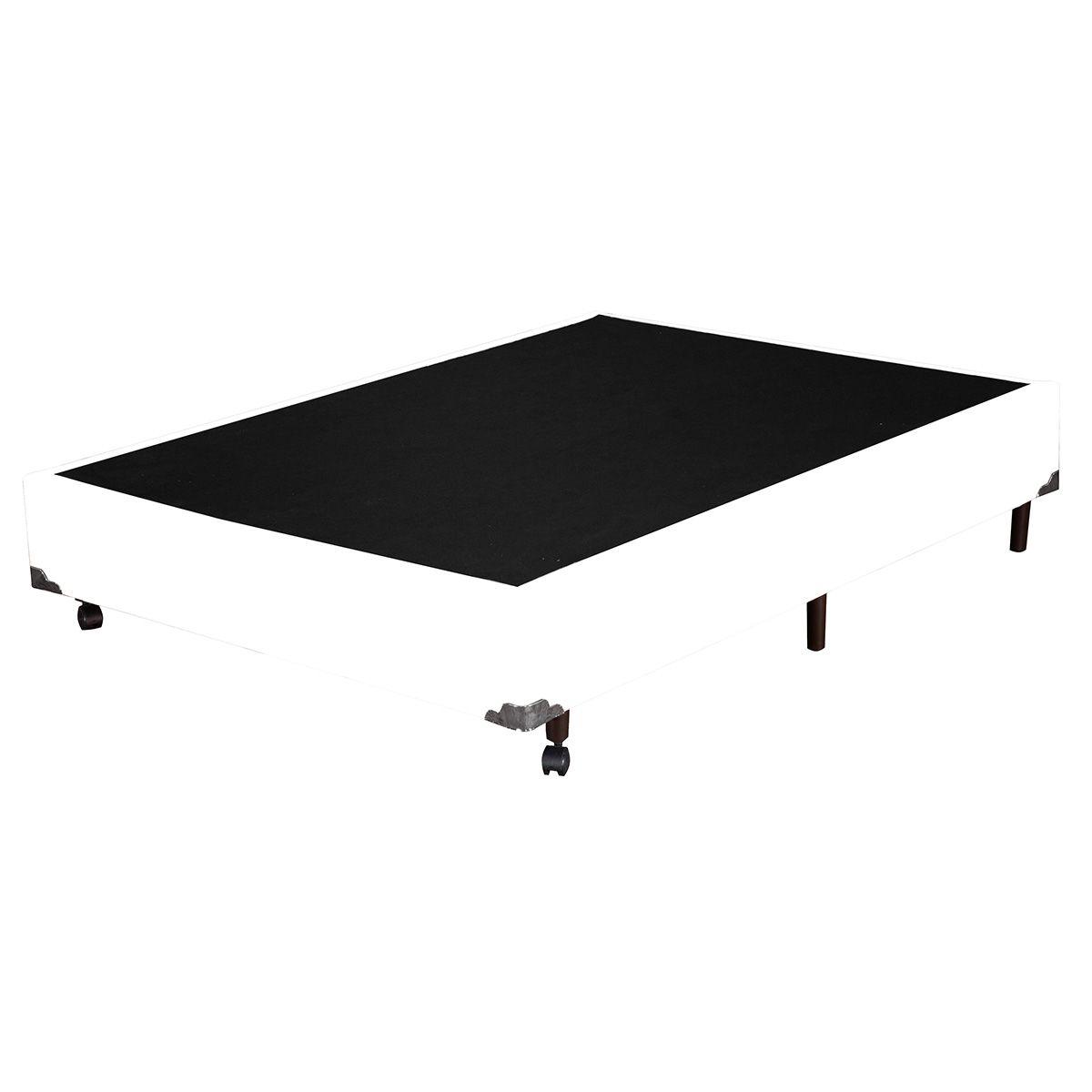 Base Box Casal Corino Branco 138x188x37 cm