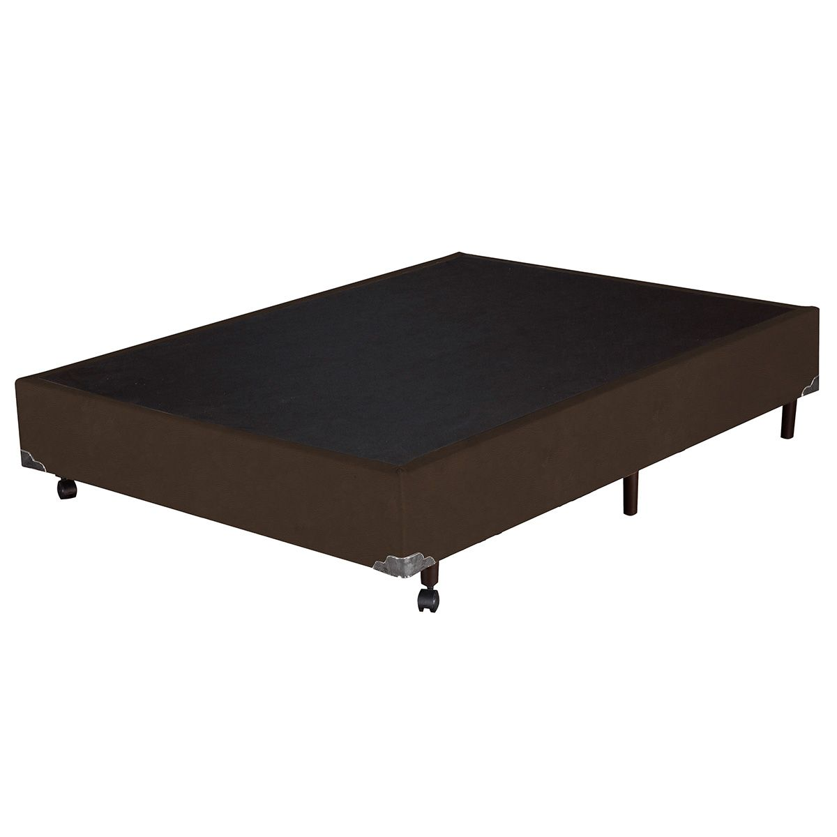 Base Box Casal Corino Marrom 138x188x37 cm
