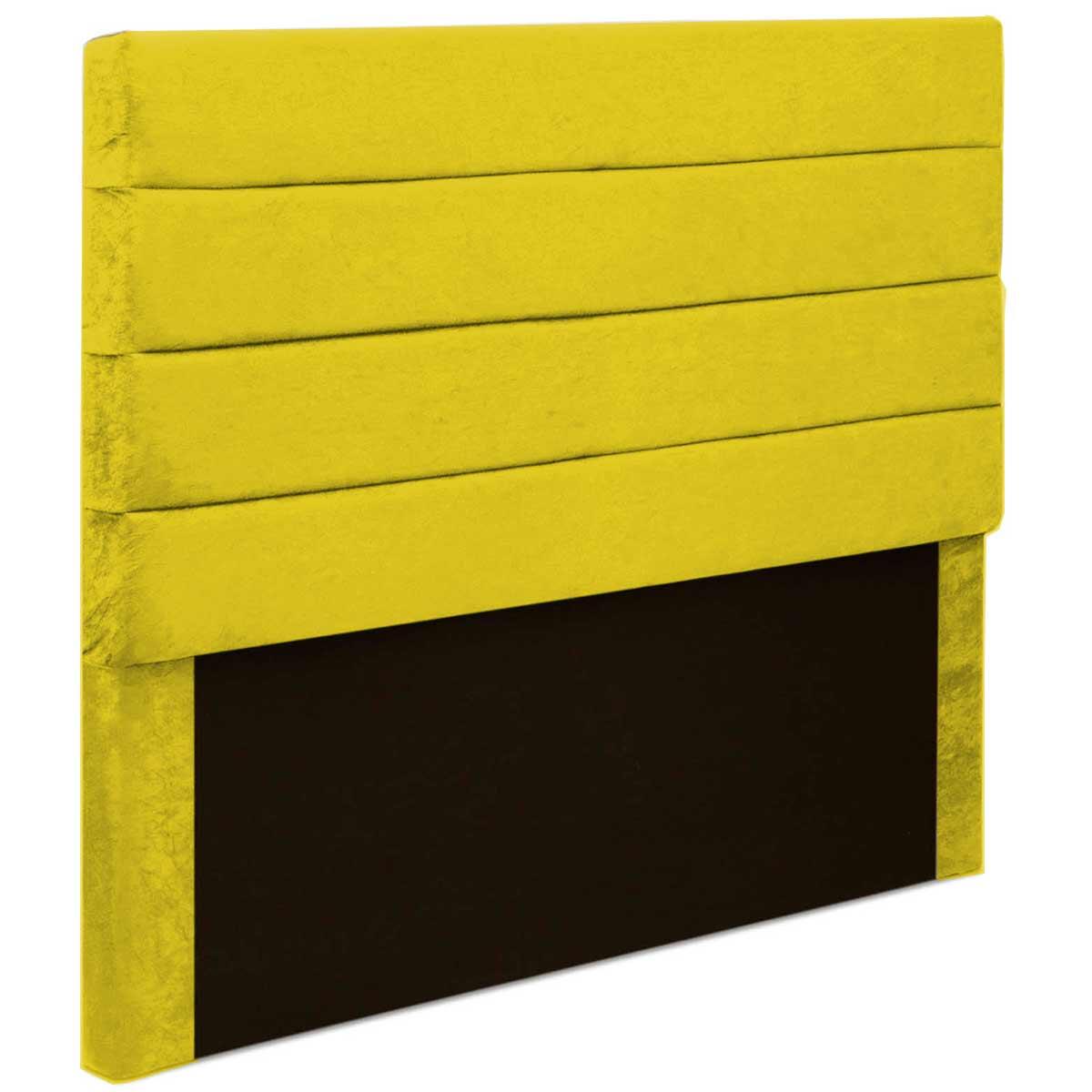 Cabeceira Casal Estofada Argentina 140 cm Animale Amarelo