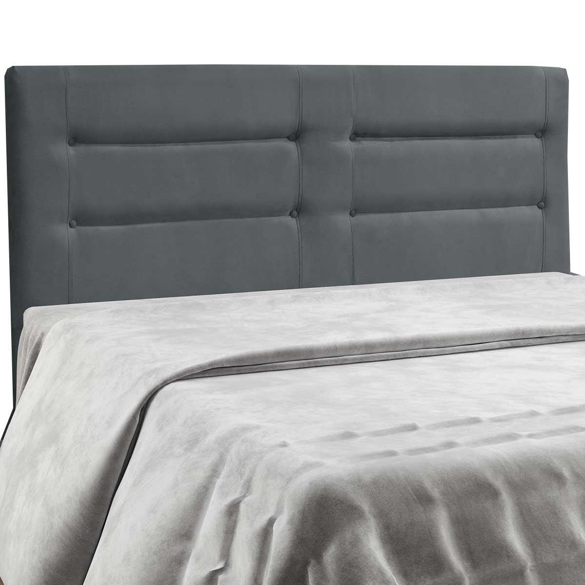 Cabeceira Atenas Casal 140 cm Cinza Escuro Simbal