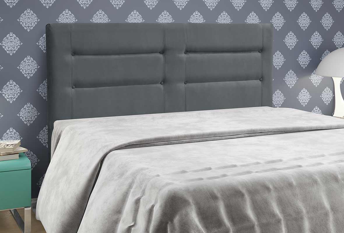 Cabeceira Atenas Solteiro 90 cm Cinza Escuro Simbal