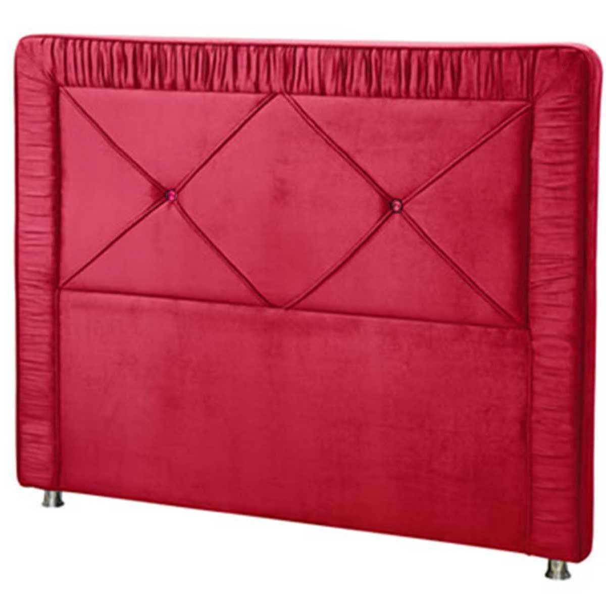 Cabeceira Athenas Solteiro 90 cm Vermelho Perfan Móveis