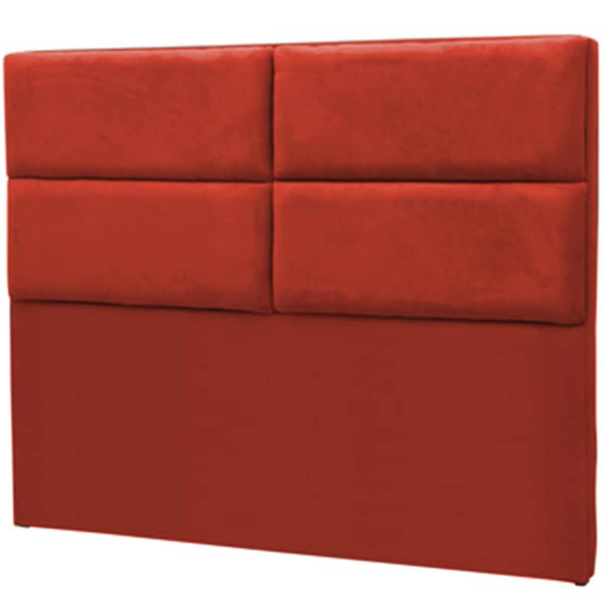 Cabeceira Barcelona King 195 cm Vermelho Perfan Móveis
