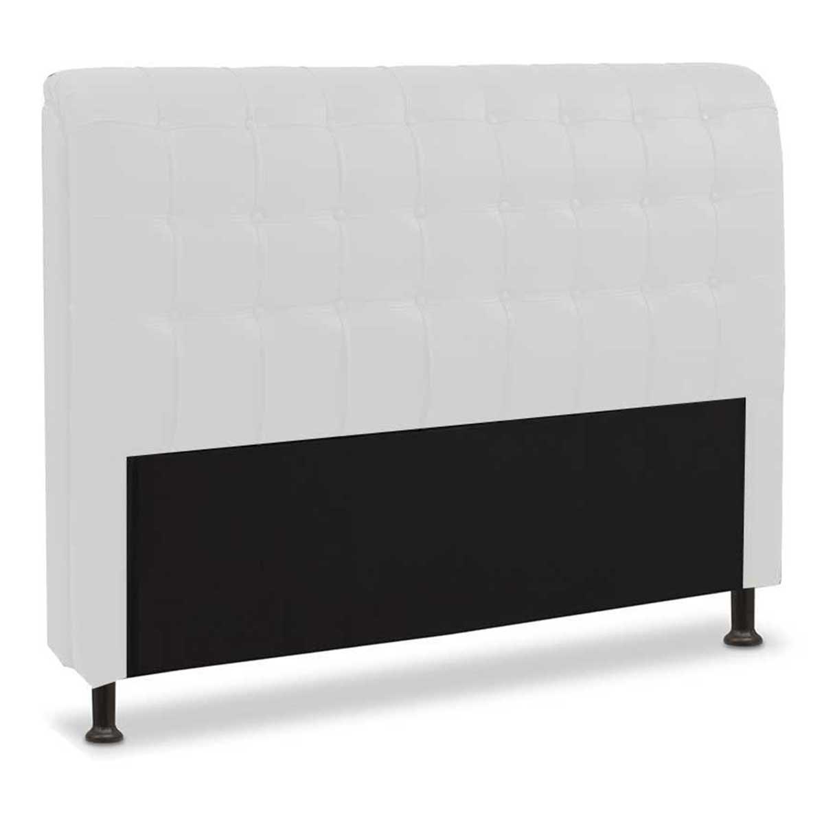 Cabeceira Casal Estofada Califórnia 140 cm Branco JS Móveis