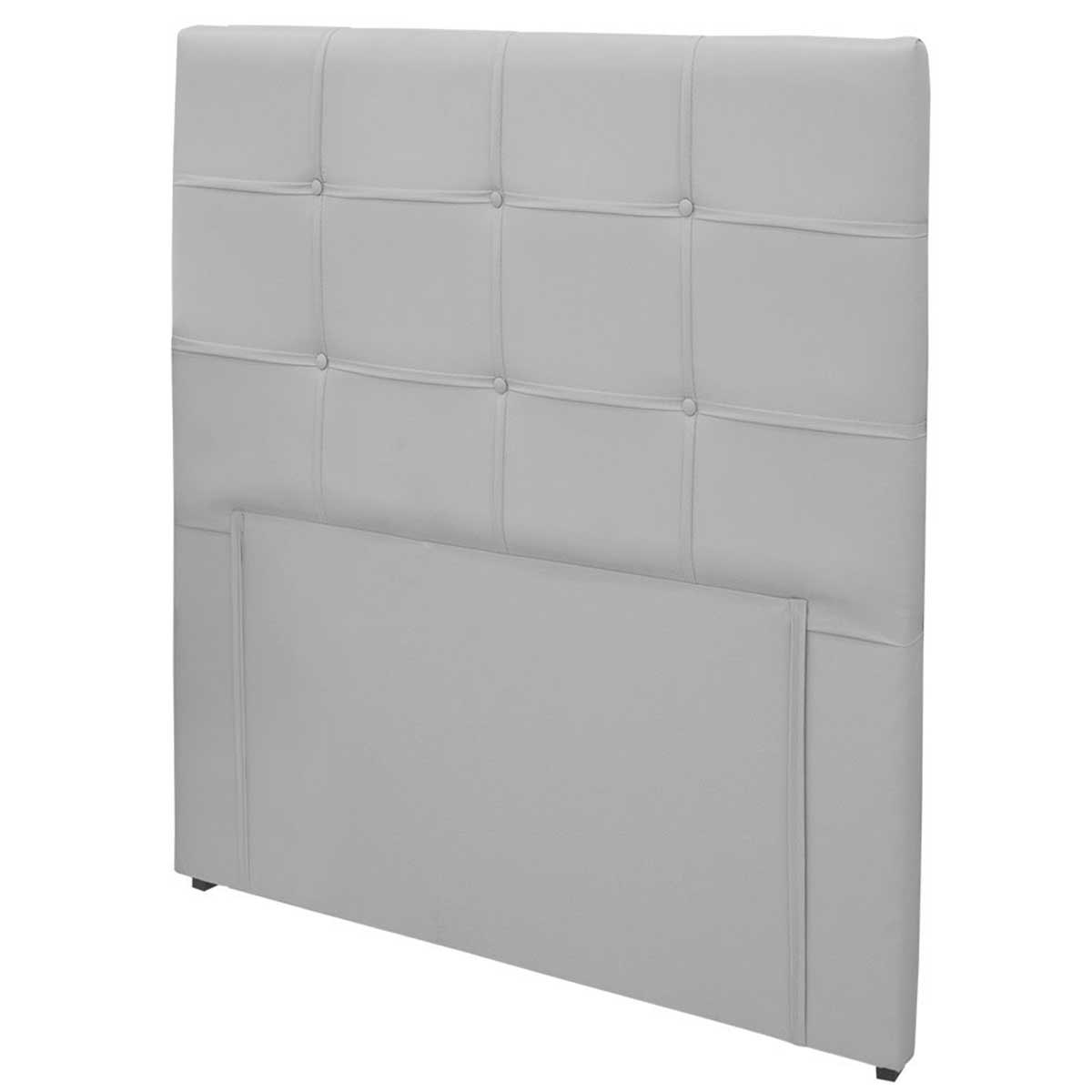 Cabeceira Casal Estofada Clean 140 cm Helanca Branco Simbal