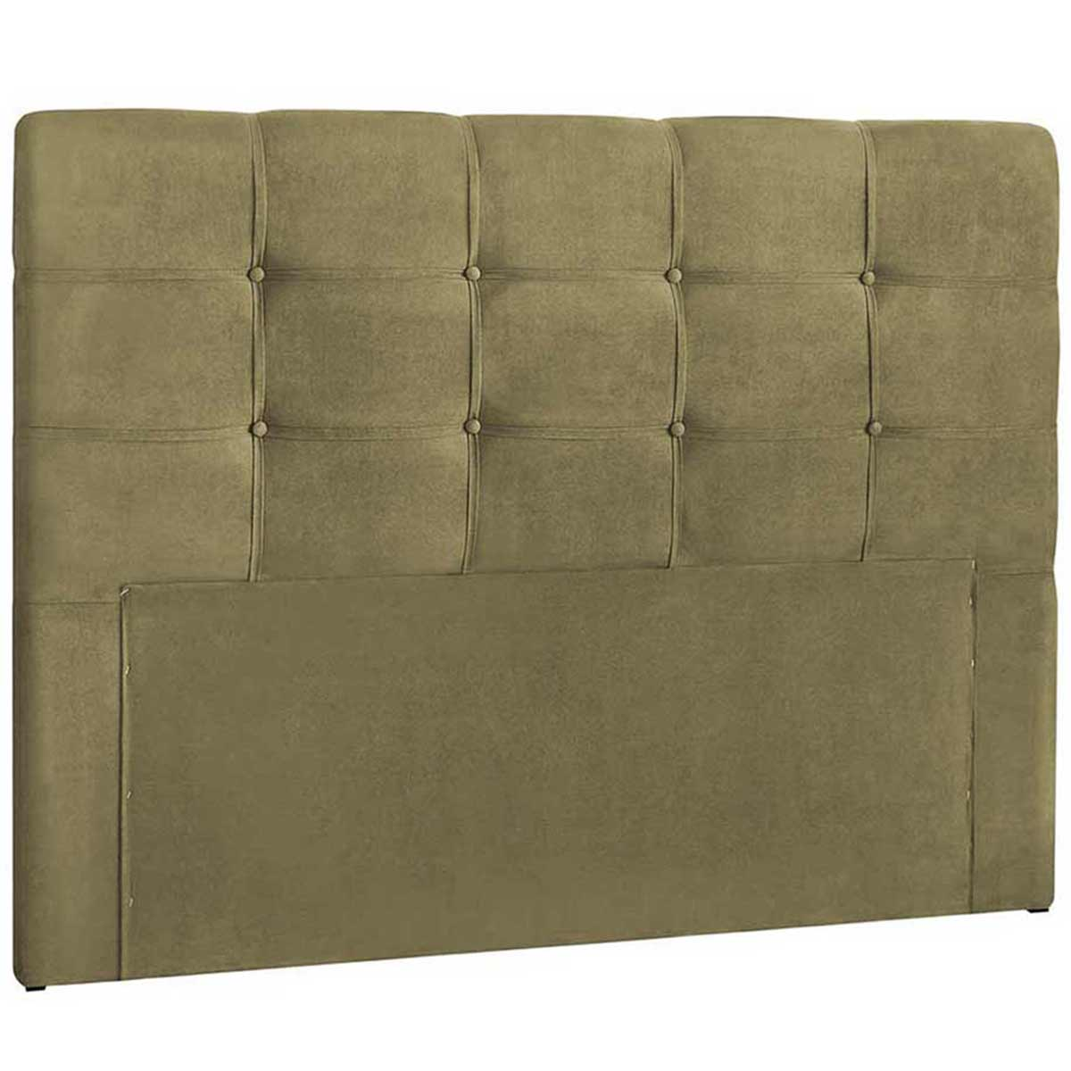 Cabeceira Clean Casal 140 cm Suede Bege II Simbal
