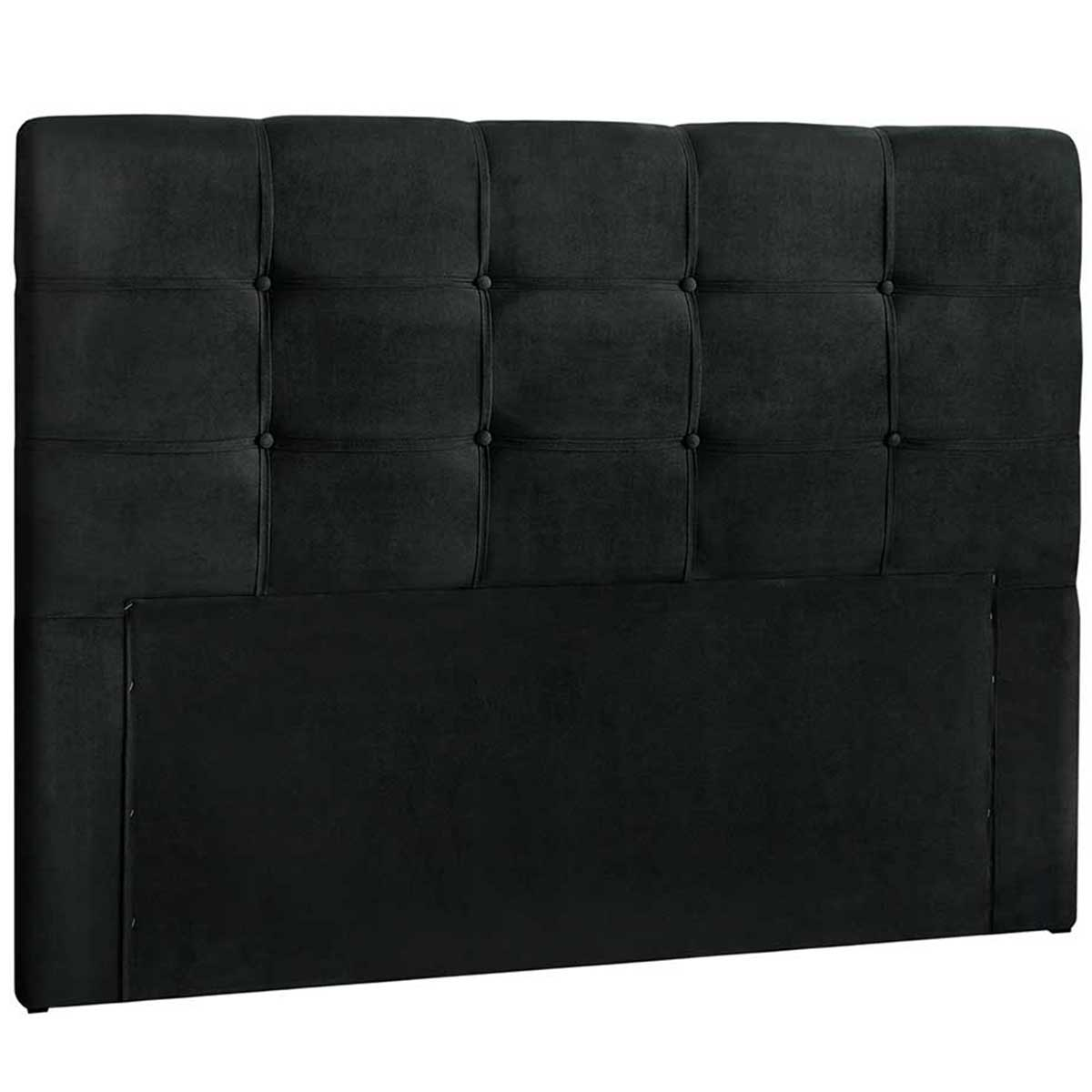 Cabeceira Clean Casal 140 cm Suede Negro Simbal