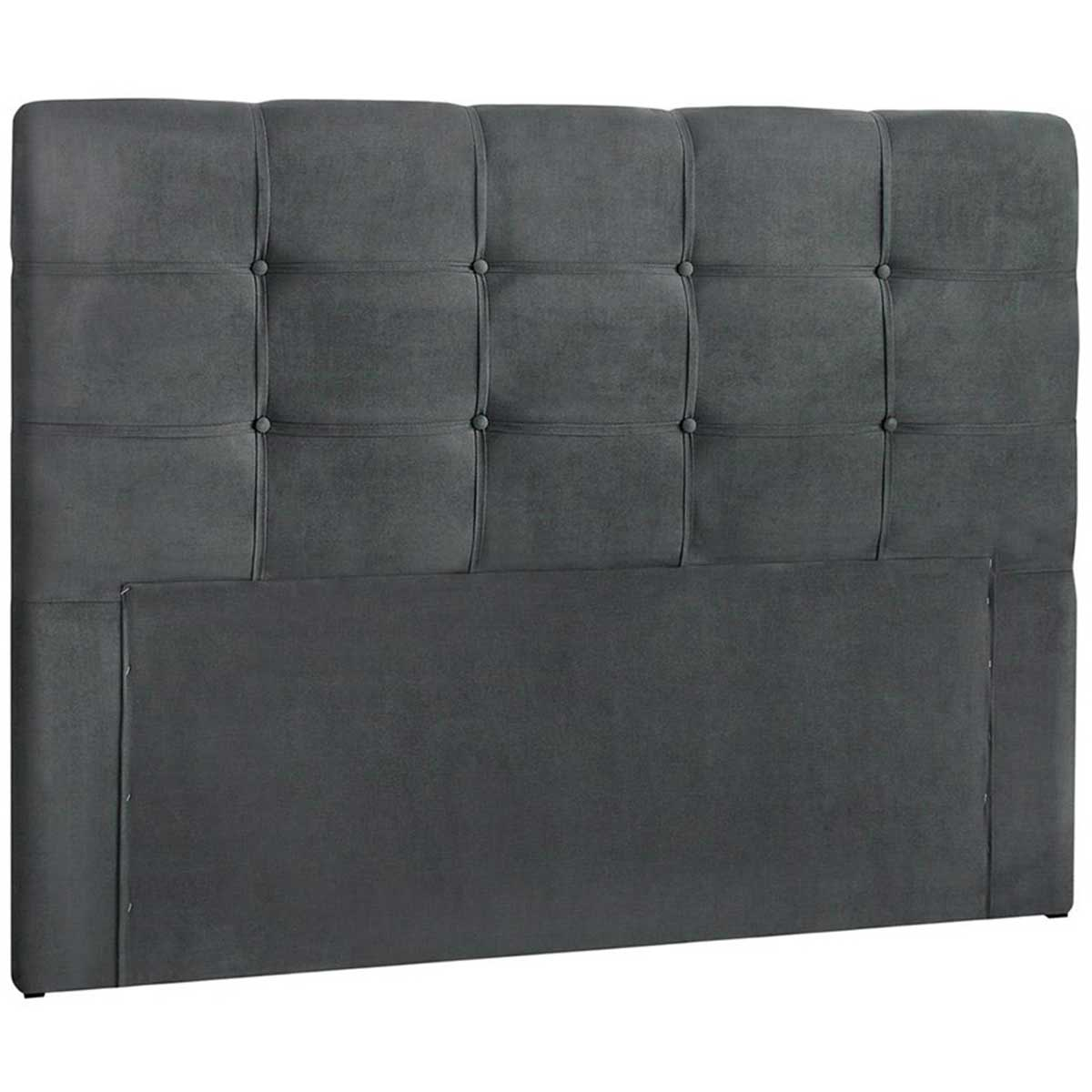 Cabeceira Queen Estofada Clean 160 cm Cinza Escuro Simbal