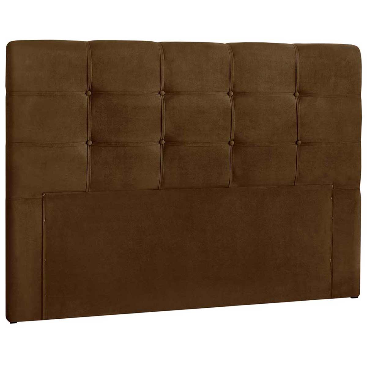 Cabeceira Queen Estofada Clean 160 cm Suede Chocolate Simbal