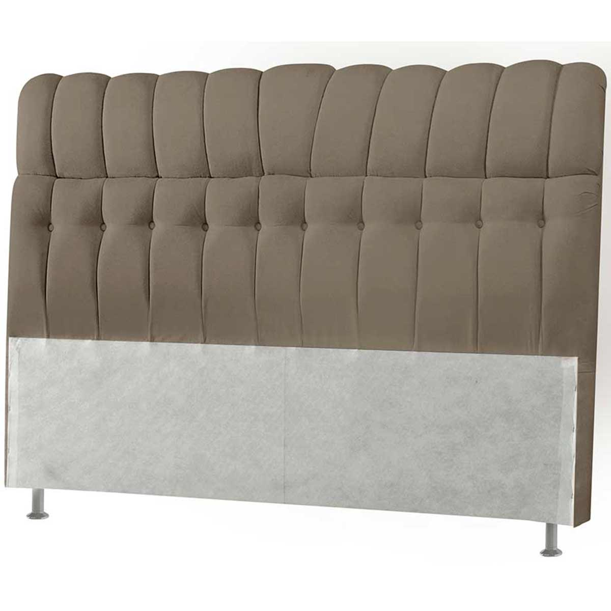 Cabeceira Condessa Casal 140 cm Suede Taupe Simbal