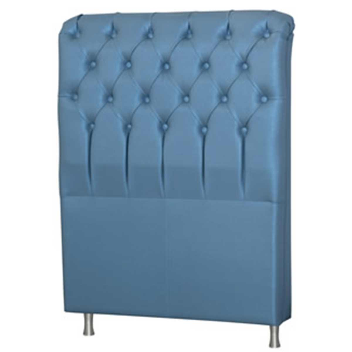 Cabeceira Domus King 195 cm Corino Metalizado Azul Perfan