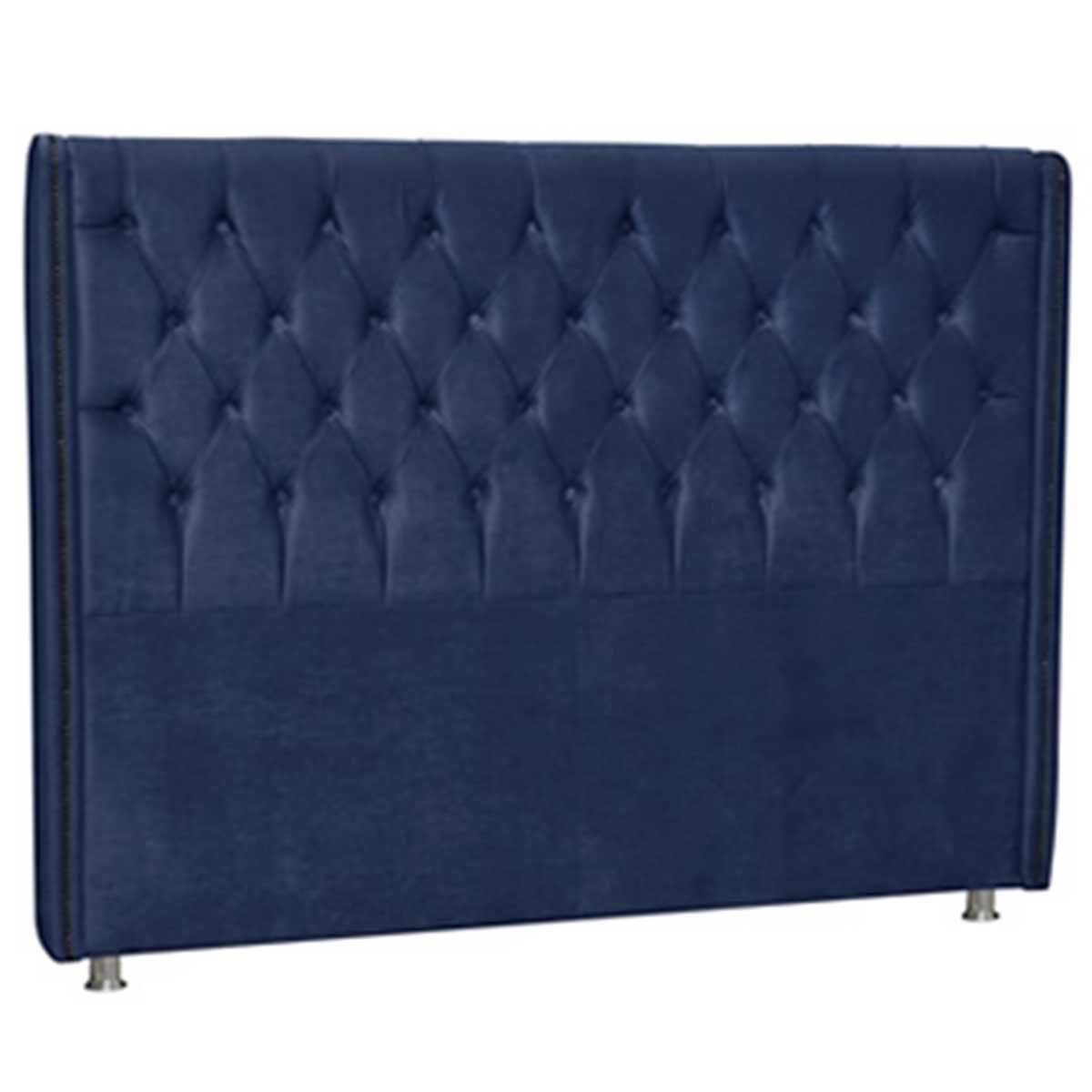 Cabeceira Firenze Casal 140 cm Azul Escuro Perfan Móveis