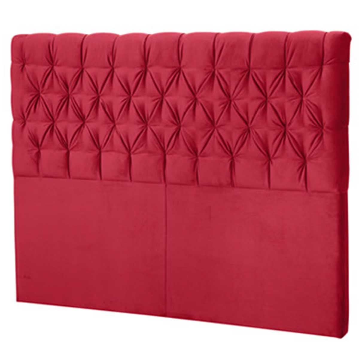 Cabeceira Casal Estofada Florença 140 cm Vermelho Perfan Móveis