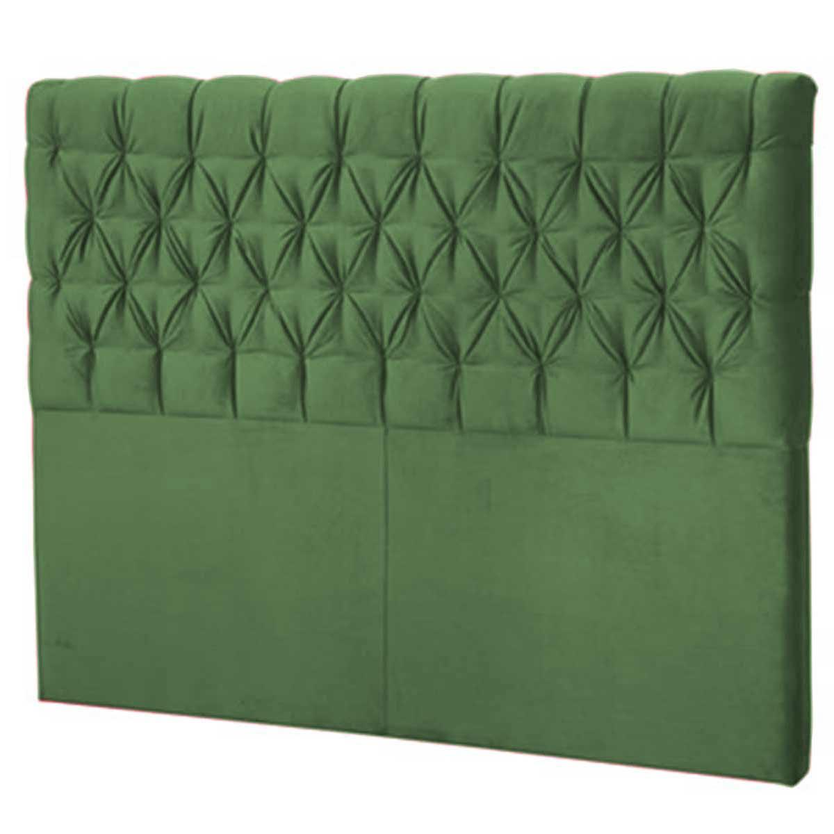 Cabeceira Solteiro Estofada Florença 90 cm Verde Perfan Móveis