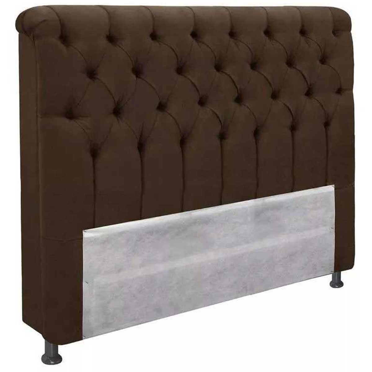 Cabeceira Imperatriz King 195 cm Animale Chocolate Simbal