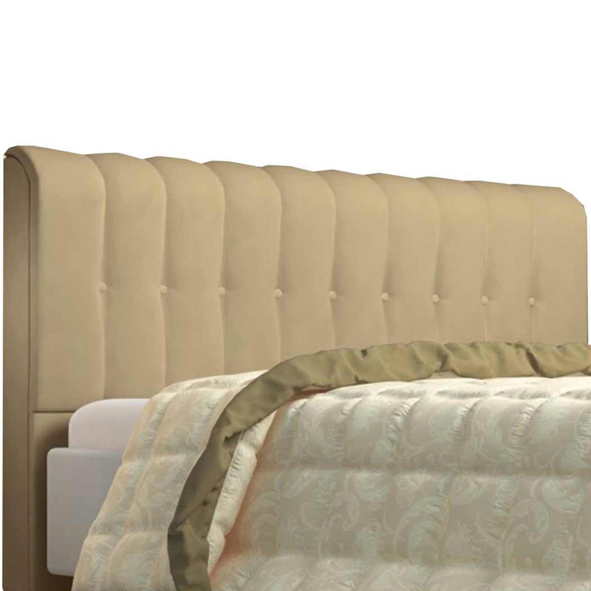 Cabeceira Casal Estofada Kiara 140 cm Corino Maple