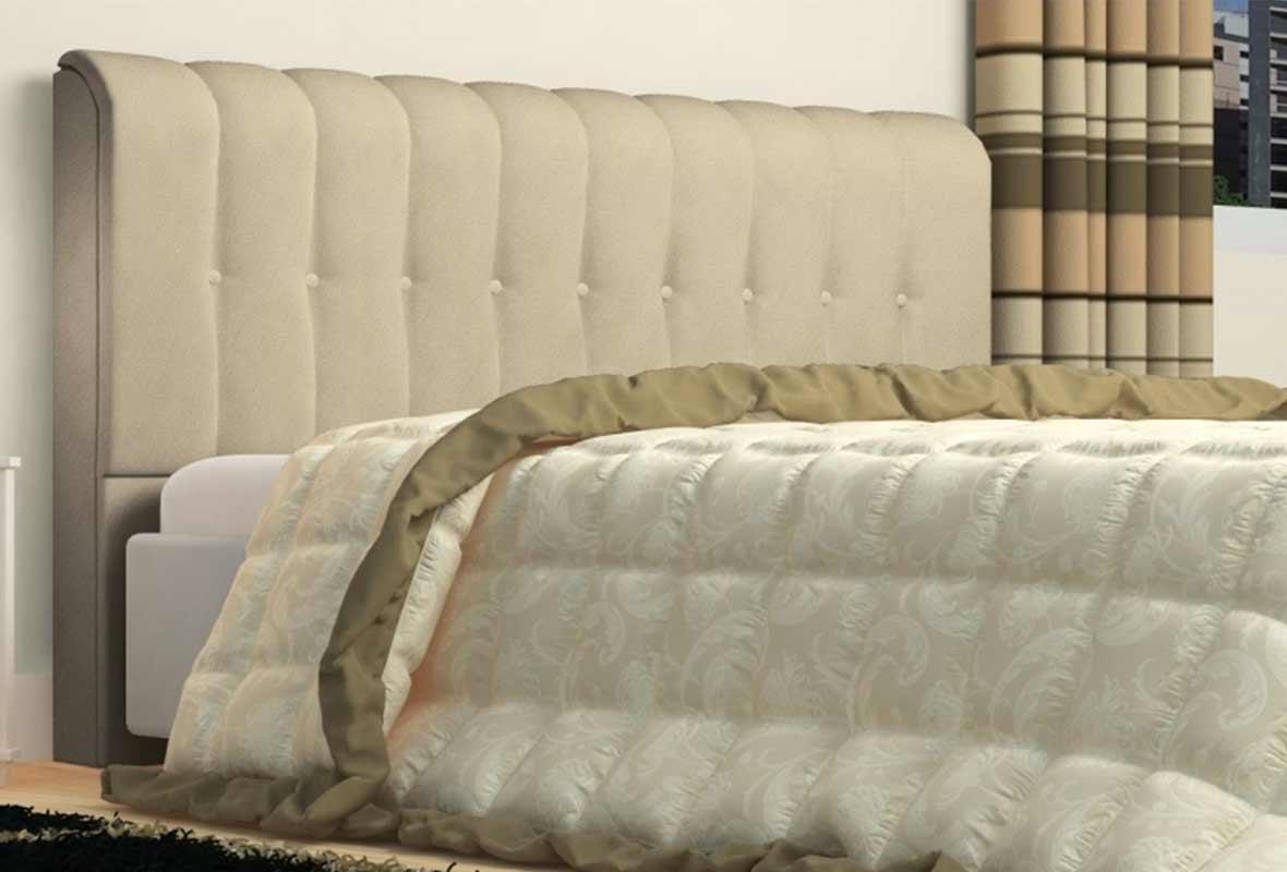 Cabeceira Queen Estofada Kiara 160 cm Animale Bege