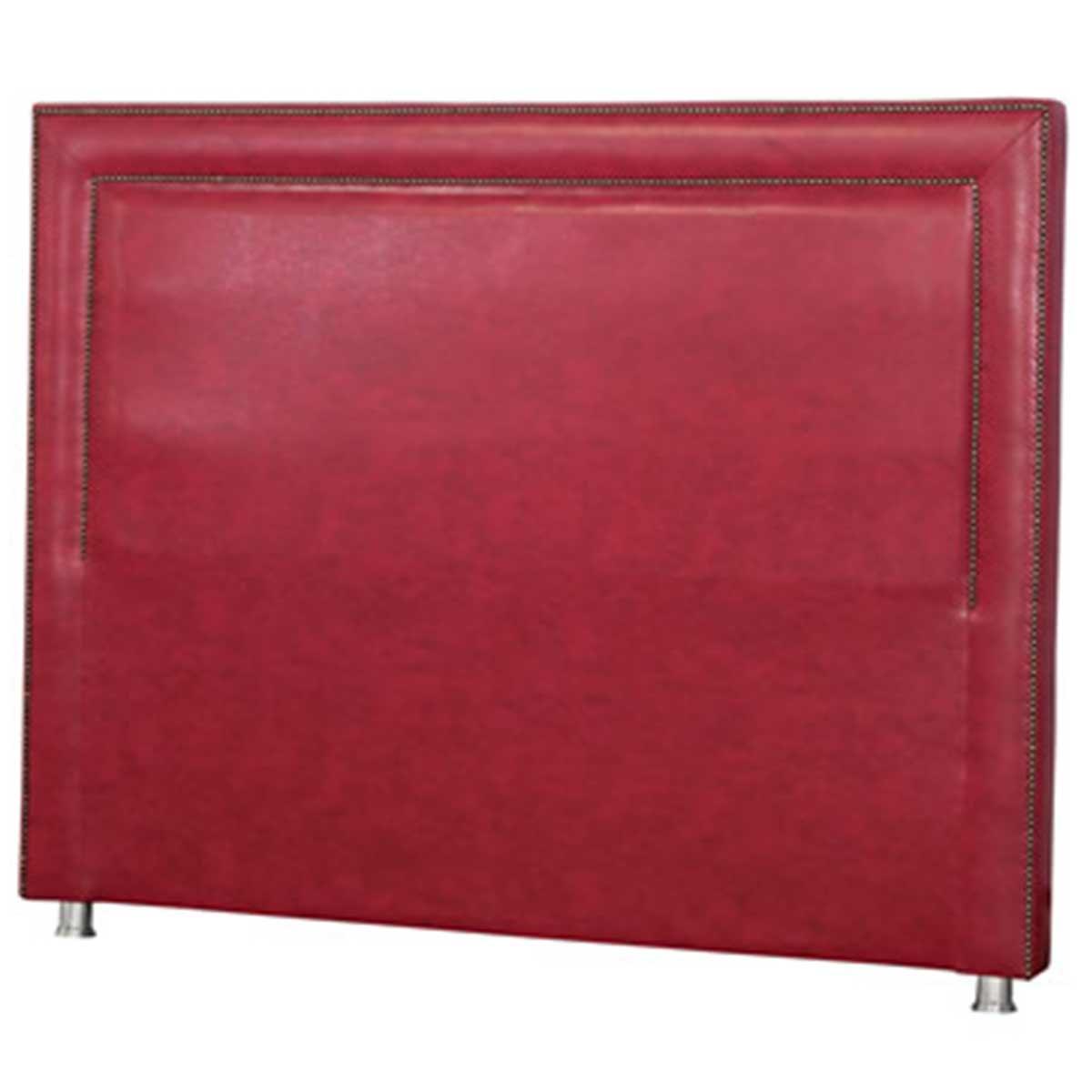 Cabeceira Lima King 195 cm Couro Sintético Vermelho Perfan