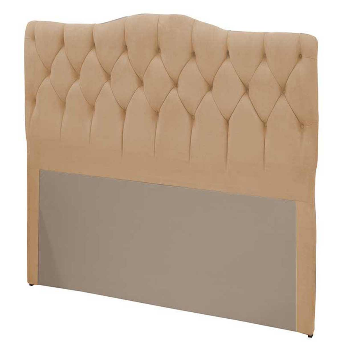 Cabeceira Luxury King 195 cm Suede Bege II Simbal