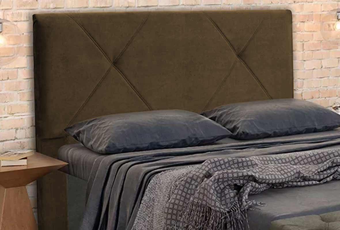 Cabeceira Malu Solteiro 90 cm Animale Marrom Claro Casa Chick