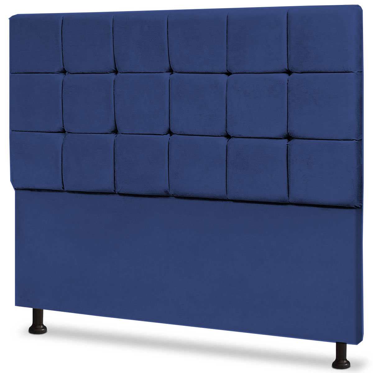 Cabeceira Queen Estofada Espanha 160 cm Animale Azul