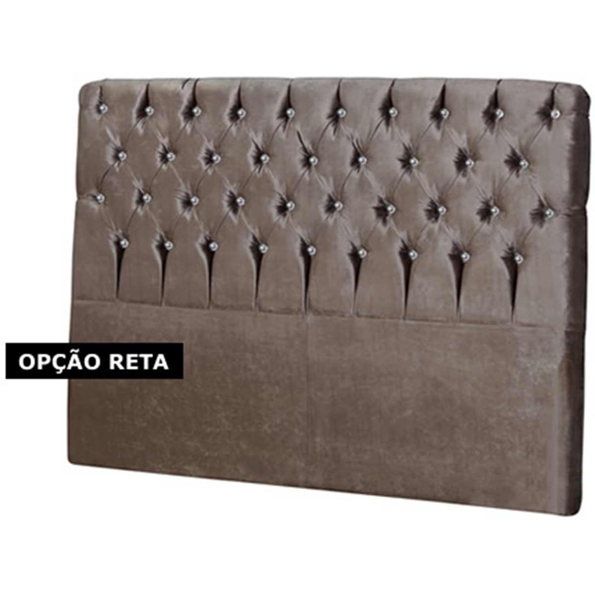 Cabeceira Roma Solteiro 90 cm Marrom Perfan Móveis