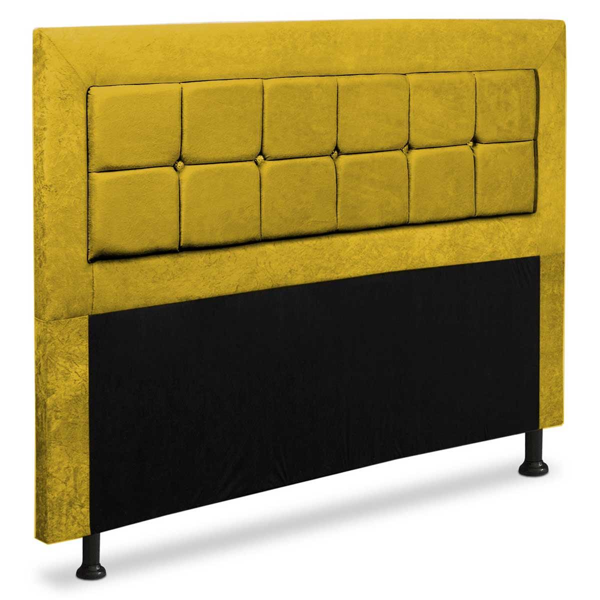 Cabeceira Queen Estofada Rússia 160 cm Animale Amarelo