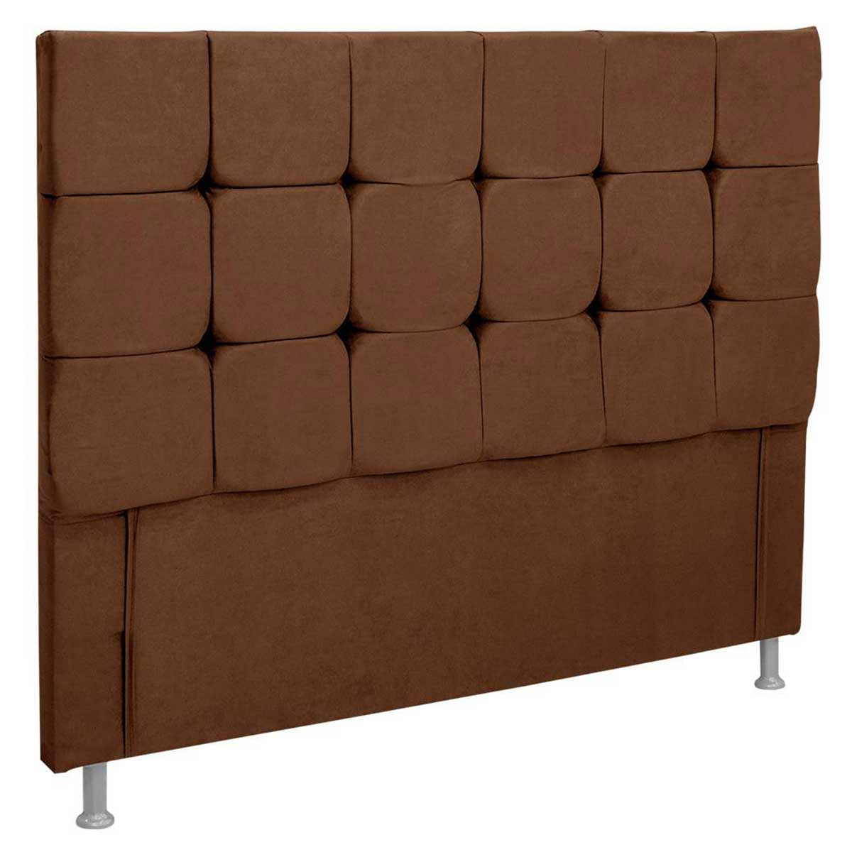 Cabeceira Slim Casal 140 cm Animale Chocolate Simbal