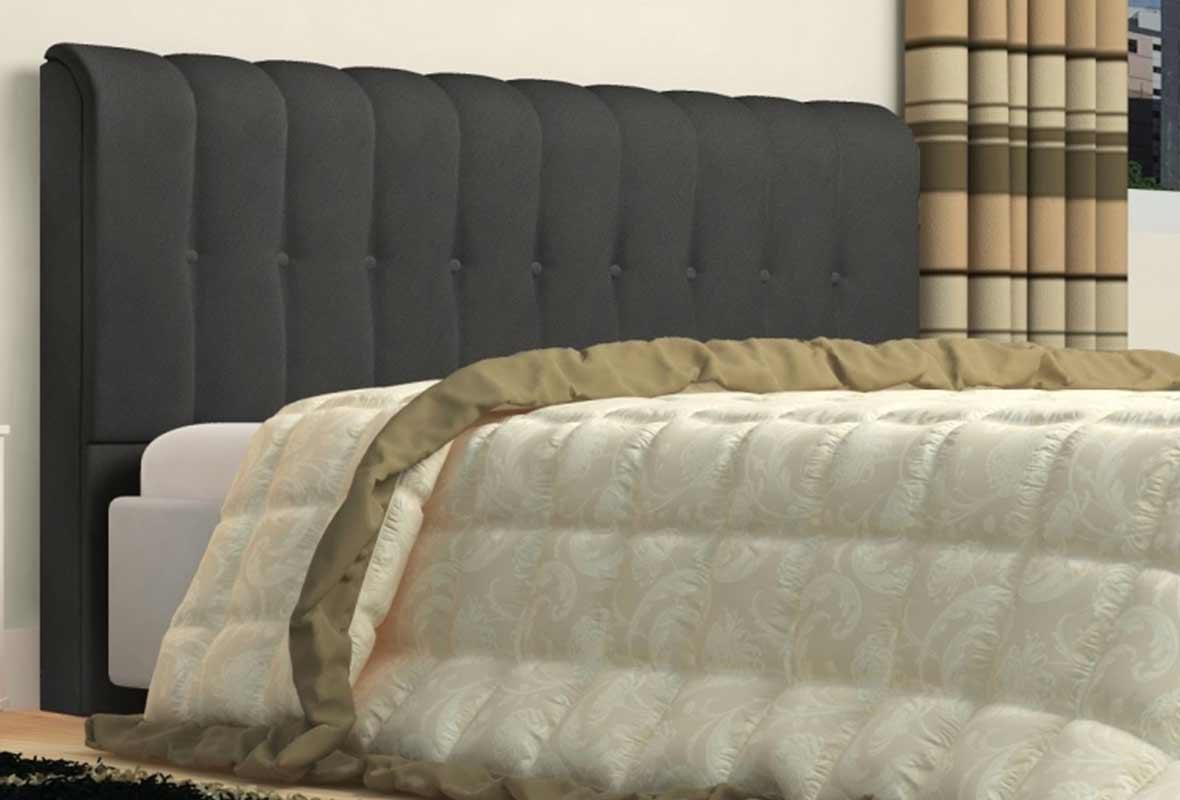 Cabeceira Solteiro Estofada Kiara 90 cm Animale Cinza