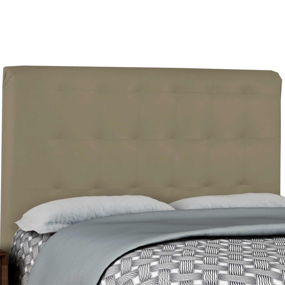 Cabeceira Solteiro Estofada Tainá 90 cm Corino Maple