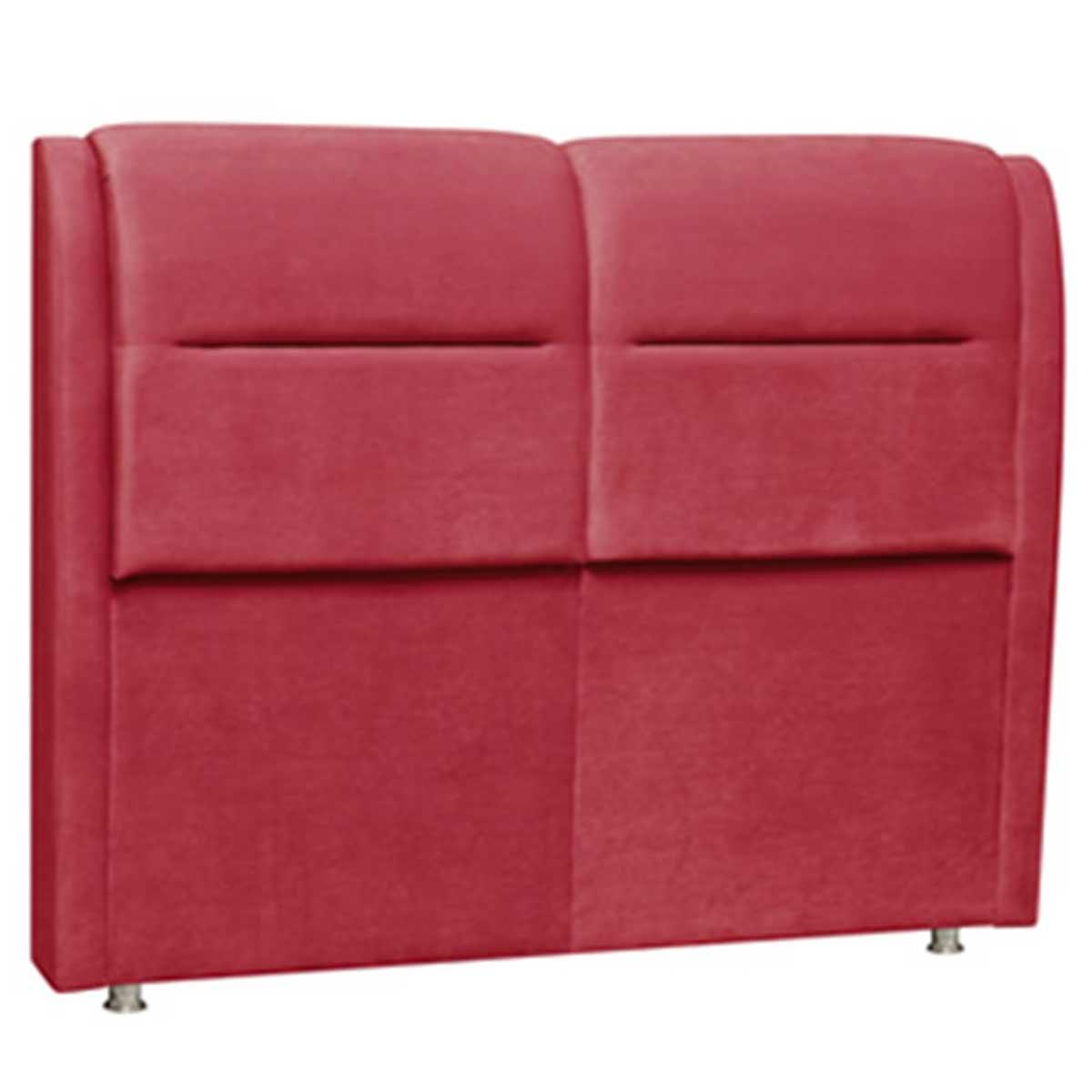 Cabeceira Verona Casal 140 cm Vermelho Perfan Móveis