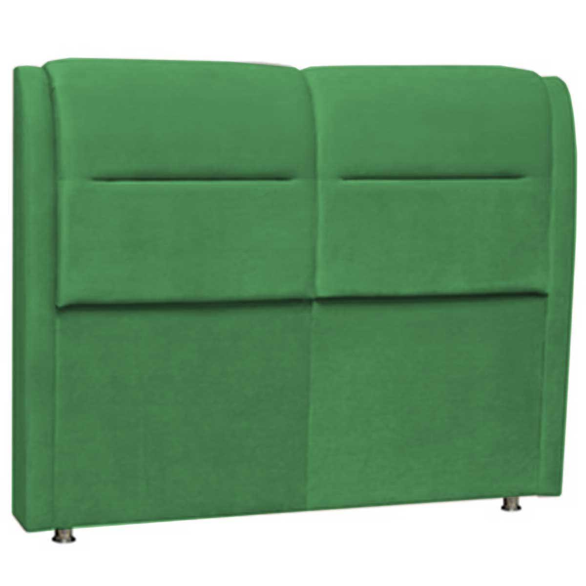Cabeceira Verona Solteiro 90 cm Verde Perfan Móveis
