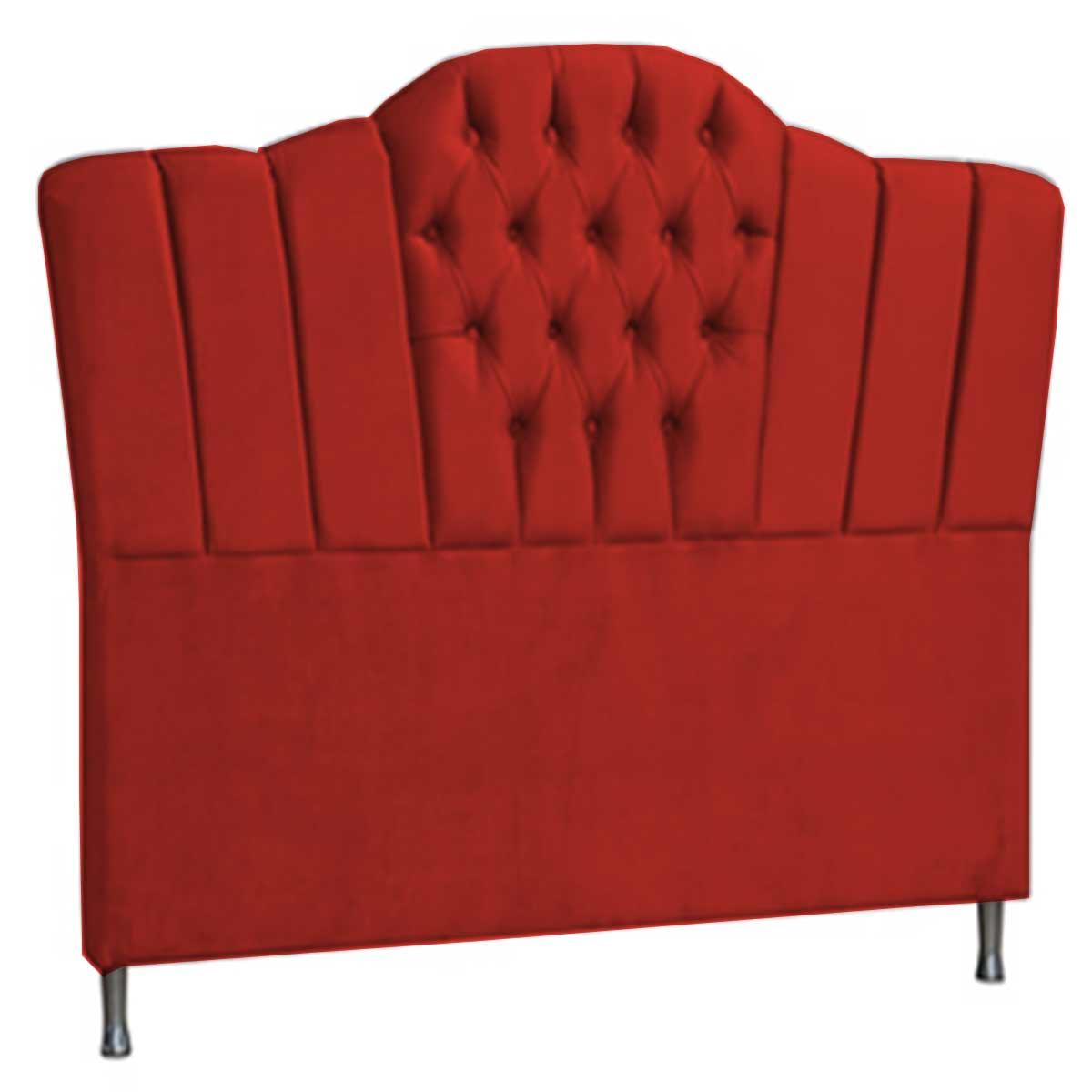 Cabeceira Zafira Queen 160 cm Vermelho Perfan Móveis