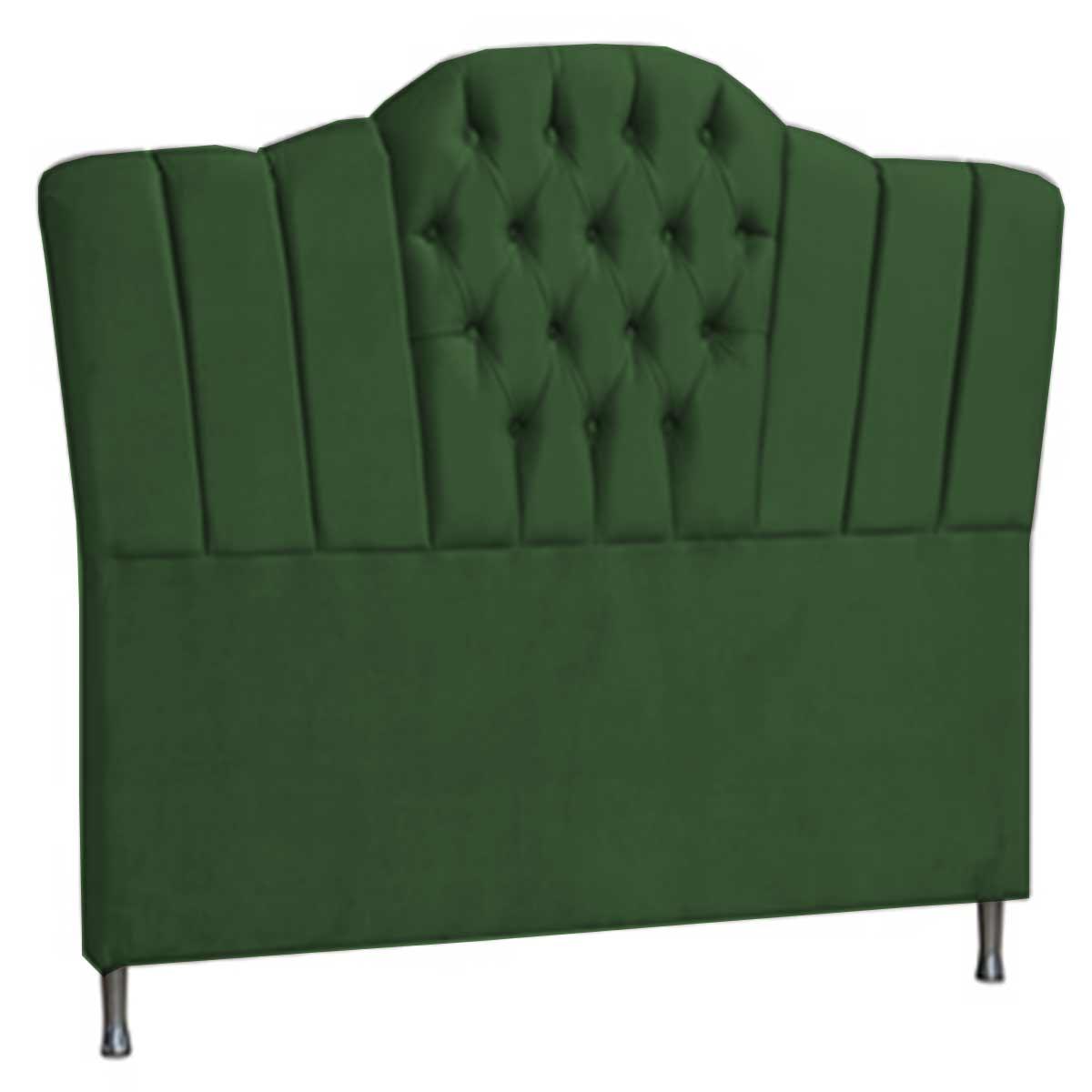 Cabeceira Zafira Solteiro 90 cm Verde Perfan Móveis