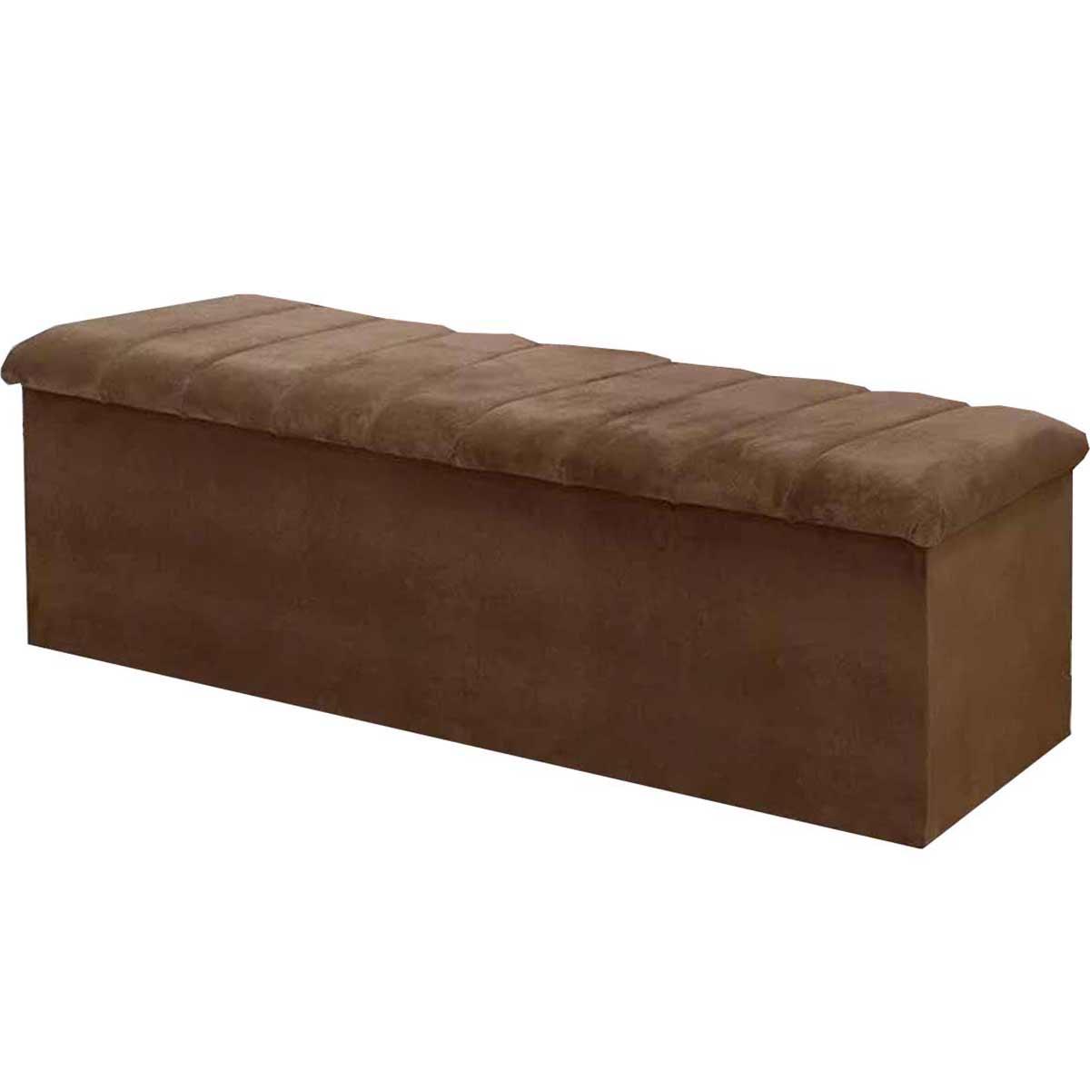 Calçadeira com Baú Condessa 140 cm Animale Chocolate Simbal