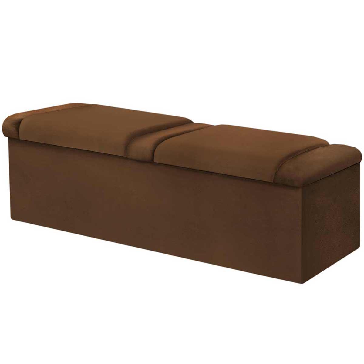Calçadeira com Baú Duquesa 160 cm Chocolate Simbal