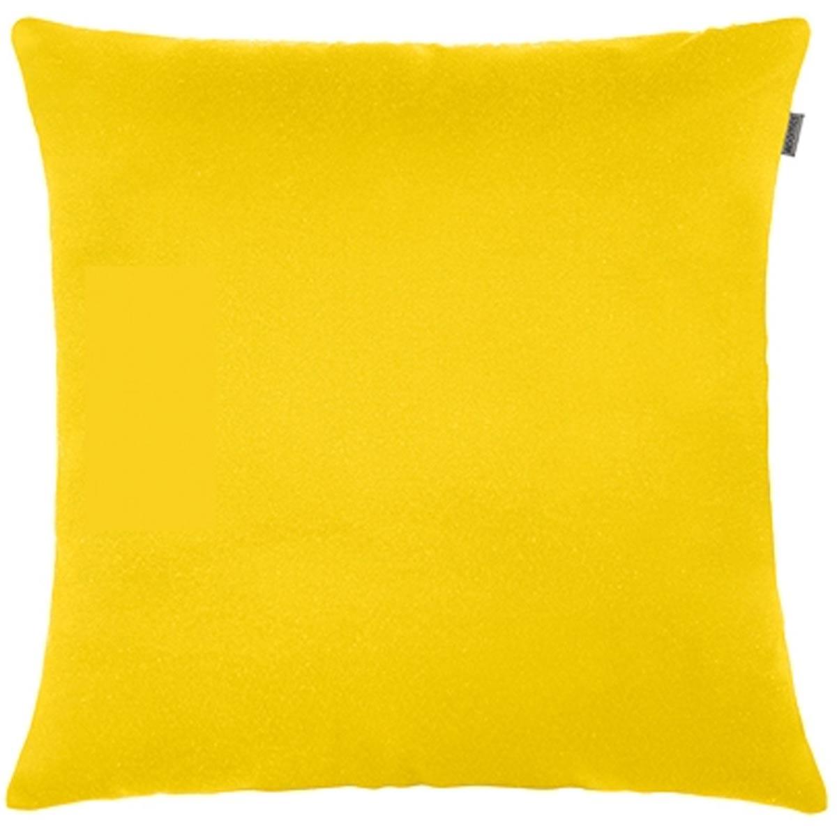 Capa P/ Almofada Jacquard Liso 45cm X 45cm Amarelo Adomes