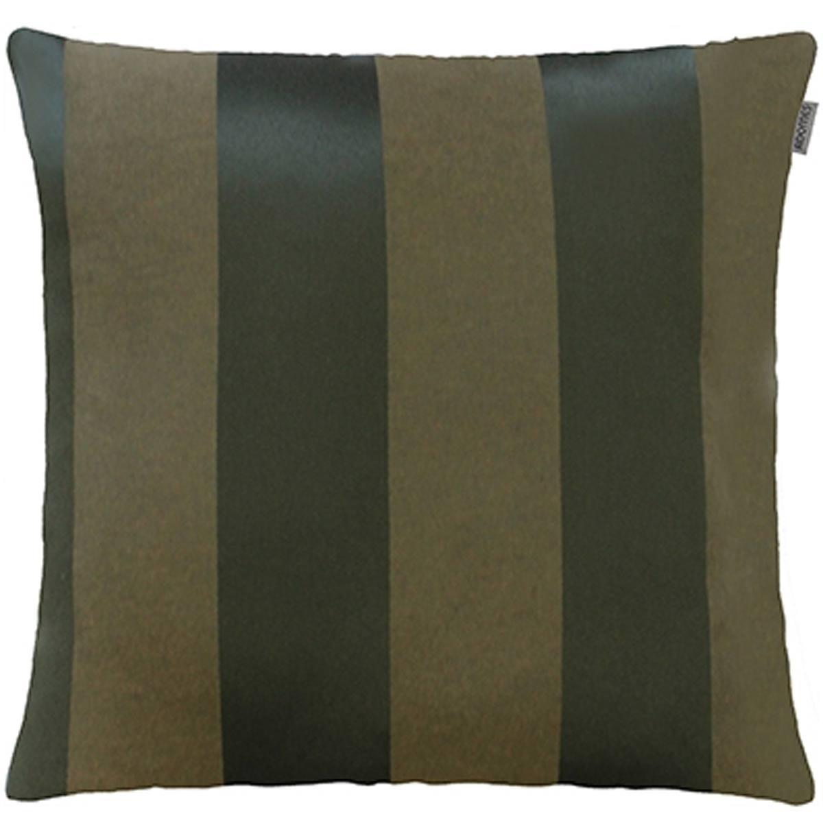 Capa P/ Almofada Jacquard Listras 45cm X 45cm Verde Musgo Adomes