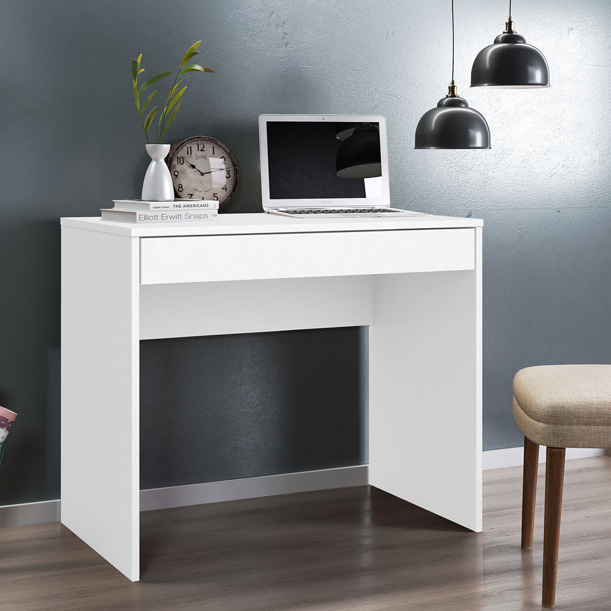 Escrivaninha Facility 1 Gaveta Branco Demóbile Móveis