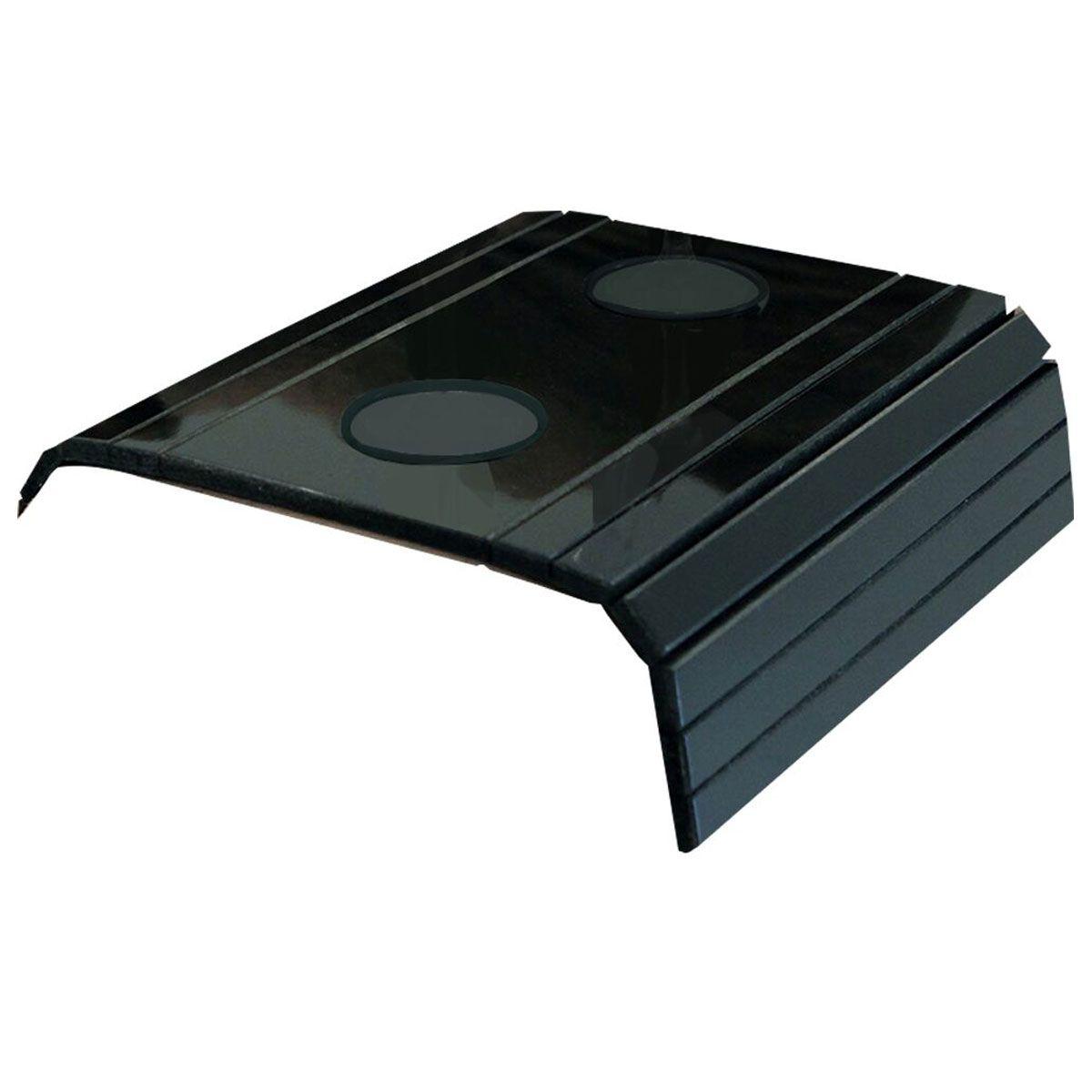 Esteira para Sofá Com Porta Copo Preto Brilho 100% MDF