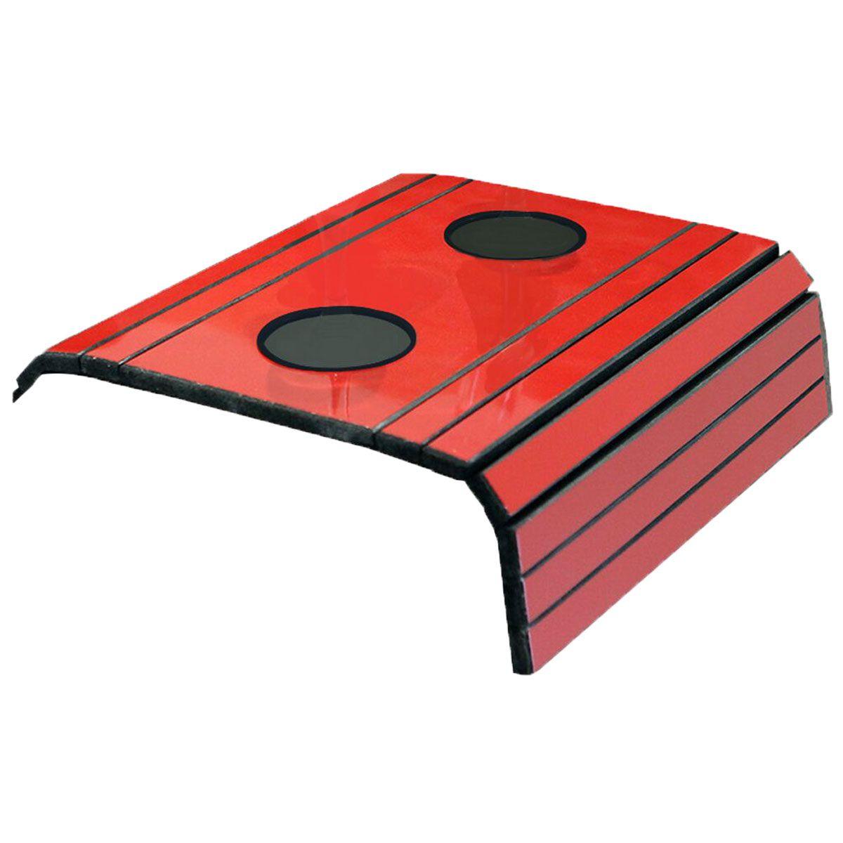 Esteira para Sofá Com Porta Copo Vermelho Brilho 100% MDF