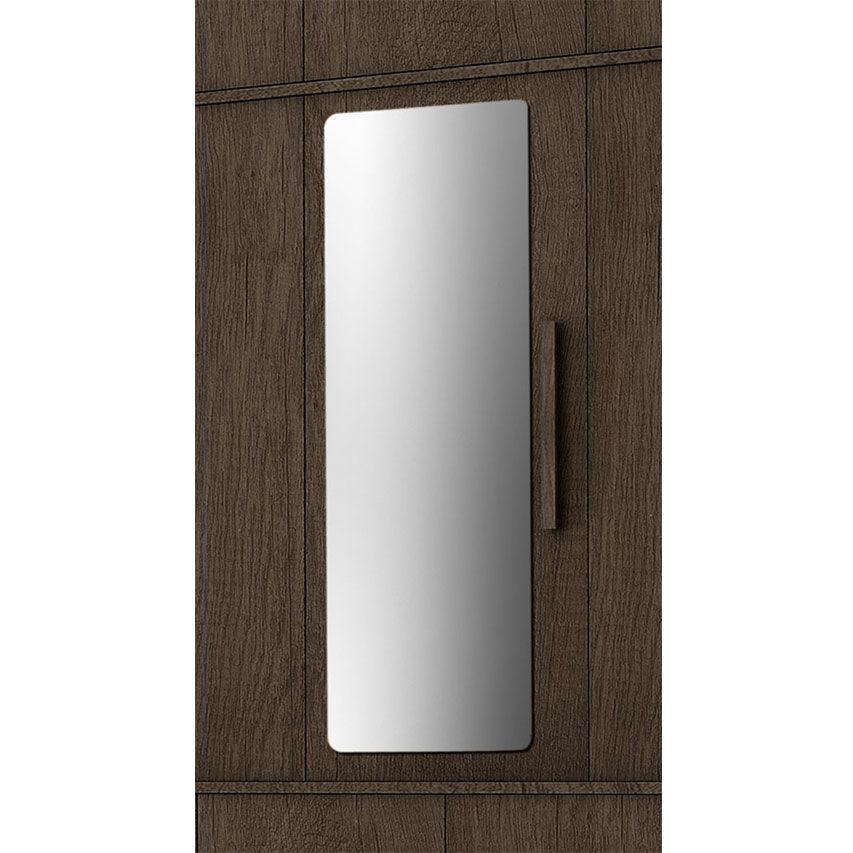 Guarda-Roupa Casal Londres 5 Portas com Espelho Amêndoa