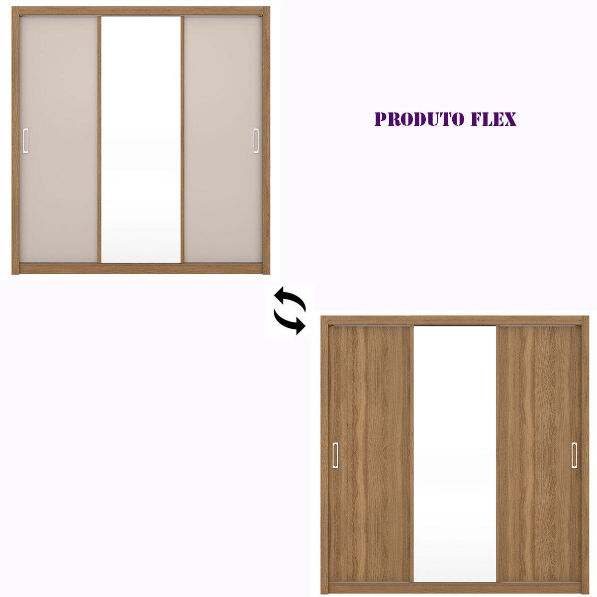 Guarda-Roupa Residence 3 Portas de Correr Amendola/Off White