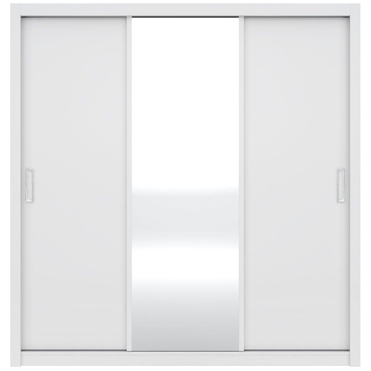 Guarda-Roupa Residence 3 Portas de Correr Branco Demóbile
