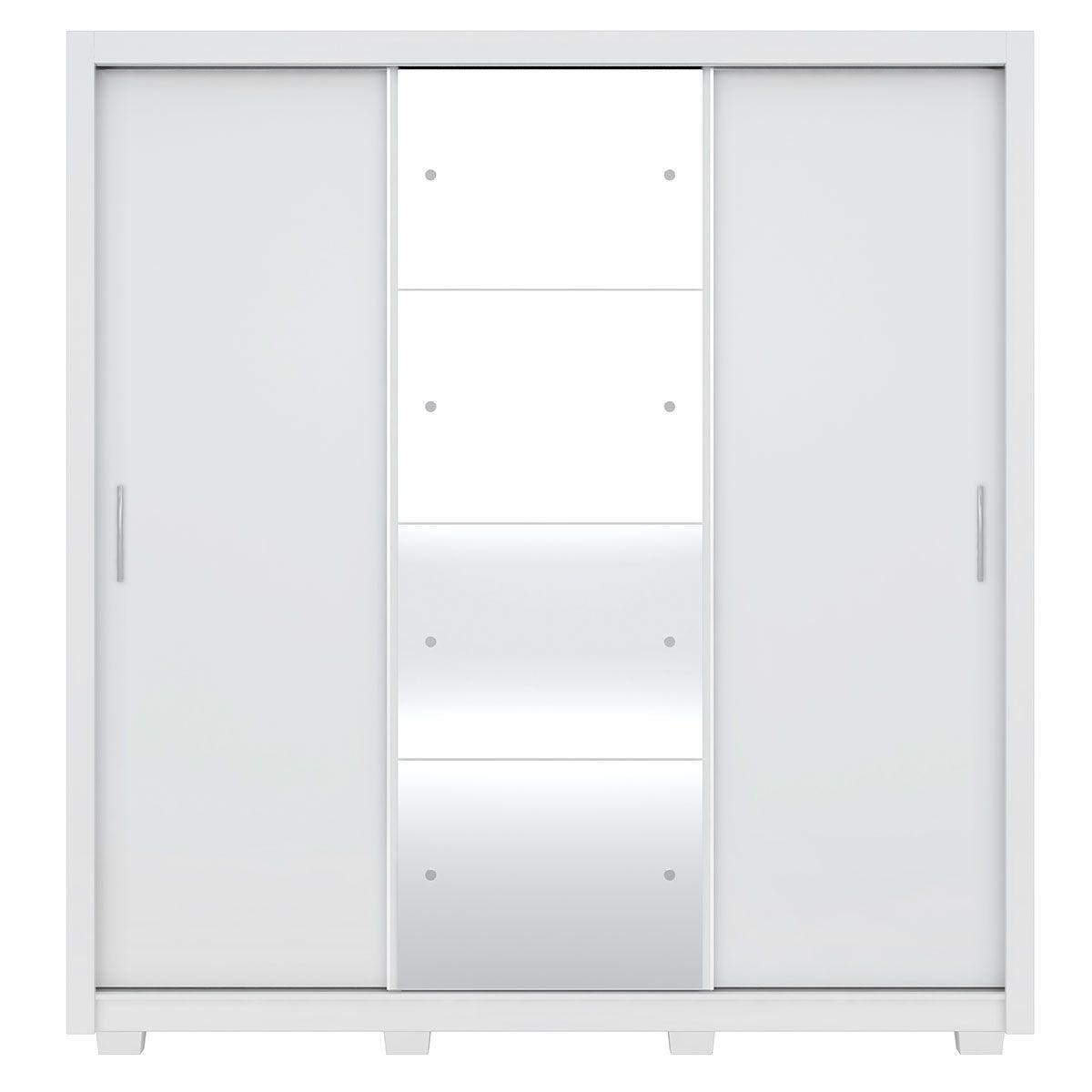Guarda-Roupa Residence II 3 Portas de Correr com Pés Branco