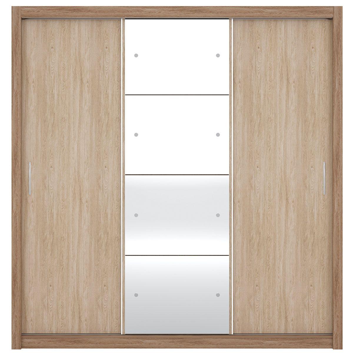 Guarda-Roupa Residence II 3 Portas de Correr Nogal/Vanilla