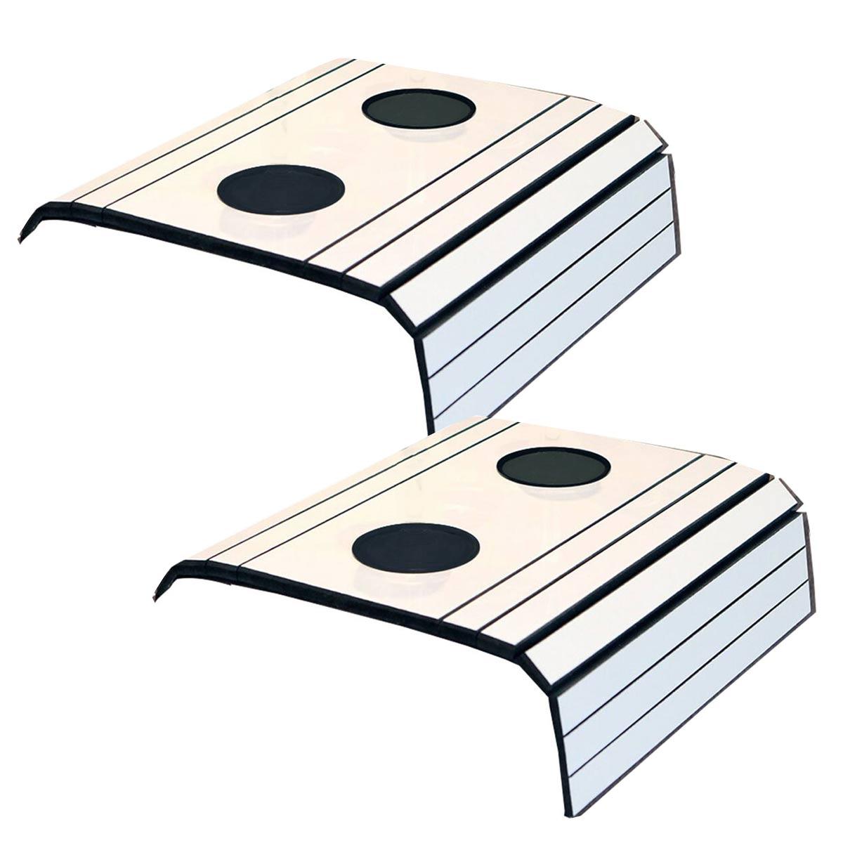 Kit 2 Esteira para Sofá Com Porta Copo Branco Off 100% MDF