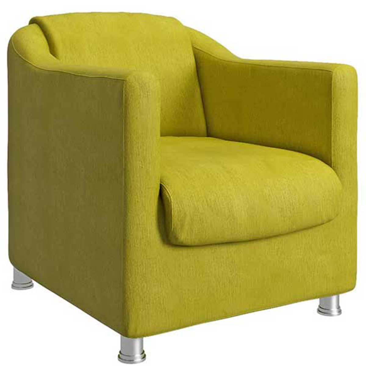 Kit 2 Poltronas Decorativas Luiza Animale Amarelo