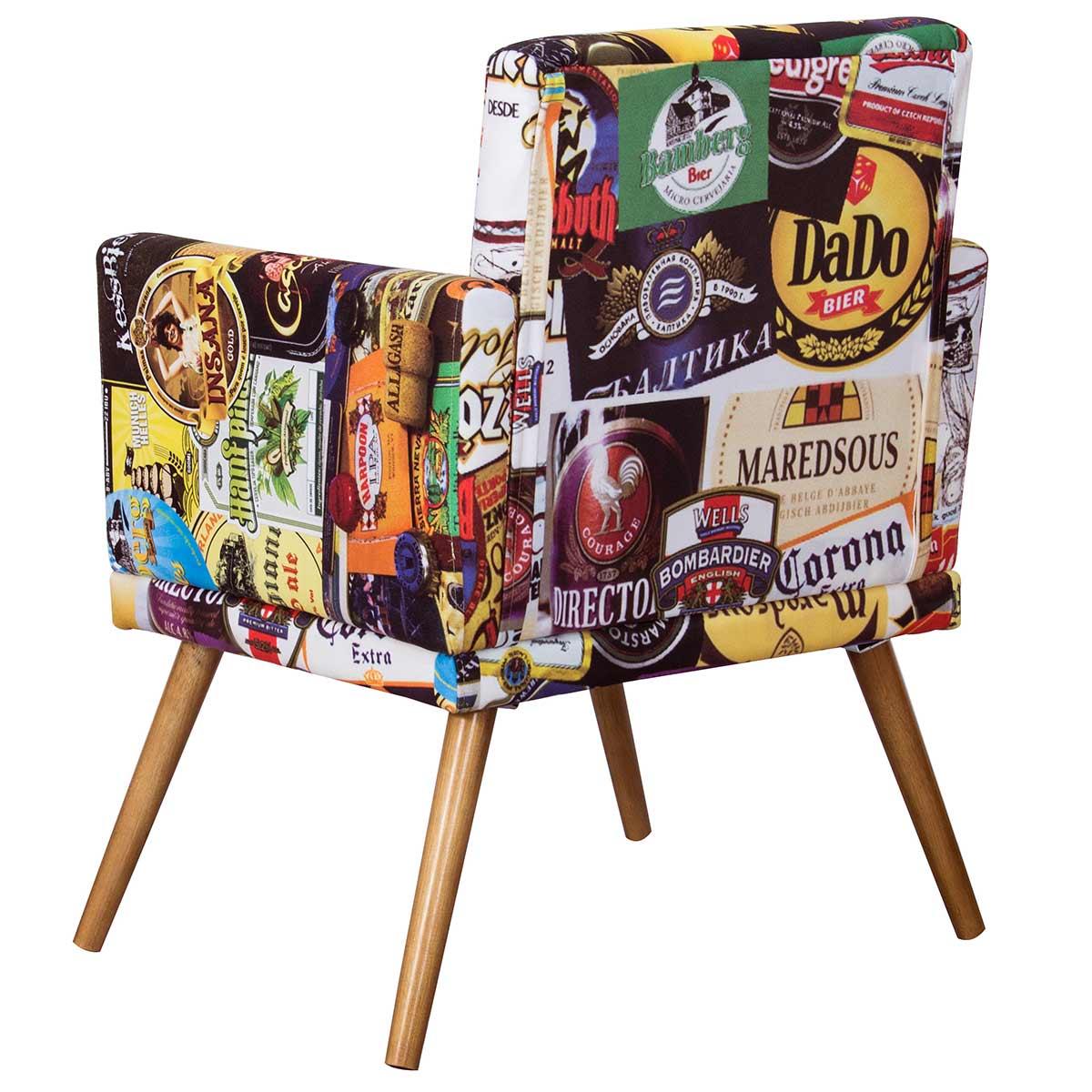 Kit 2 Poltronas Decorativas New Nina Pé Palito Cervejas
